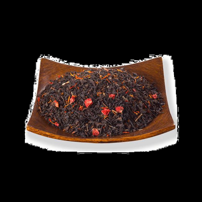 Чай/Черный ароматизированный чай Клубника со сливками (Черный) фото